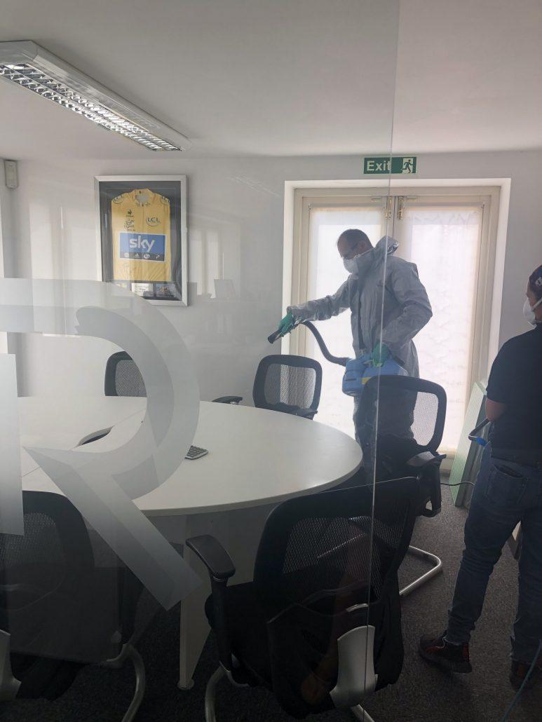 Fogging an office